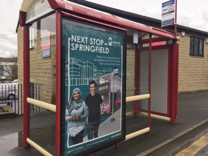 Kirklees College Bus Stop Advertising Campaign