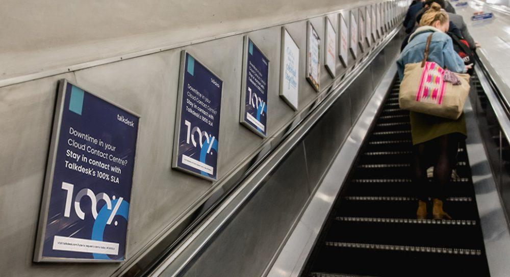 Talk Desk london Underground Campaign