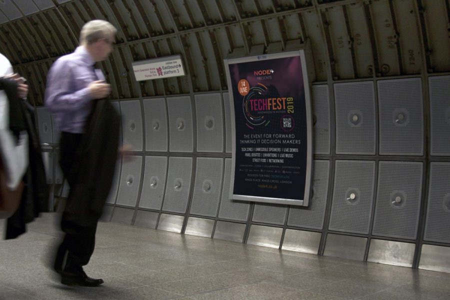 Node 4 TechFest 2019 Tube Advertising Campaign